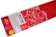 Бумага цветная креповая 50*250см плотн 32г бордовый е/п WEROLA 12800-131