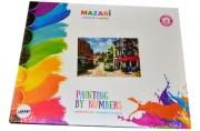 """Картины по номерам 40*50 """"Пейзажи. Кафе с красным тентом"""" MAZARI M-6413"""