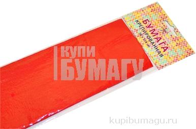 Бумага цветная креповая 50*250см 32/м2 красный е/п ЭКСМО КБ006