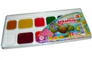 """Акварель ЛУЧ """"Zoo"""", 12 цветов, медовая, без кисти, пластиковая коробка, 19С1249-08"""