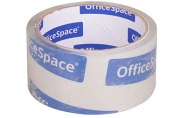 Скотч 48мм*40м, 38мкм, крист. чистый OfficeSpace, ШК