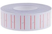 Этикет-лента 21*12мм, белая с красной полосой, 1000 этикеток OfficeSpace
