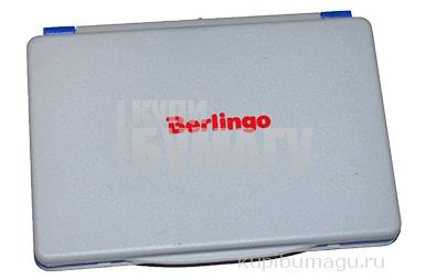 Штемпельная подушка 120*90мм, синяя, пластиковая Berlingo