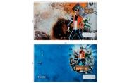 Обложка 210*350 для дневников и тетрадей, ПВХ 120мкм, ШК, с цветной печатью