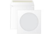 Конверт бумажный 125*125 для CD, KurtStrip, с окном, декстрин
