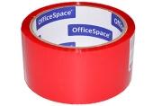 Скотч красный 48мм*40м, 45мкм, OfficeSpace,, ШК
