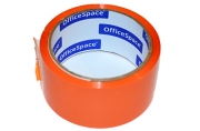 Скотч оранжевый 48мм*40м, 45мкм, OfficeSpace,, ШК