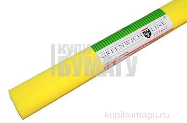 Бумага цветная креповая лимонная, 50*250см с32г/м2, в рулоне, Greenwich Line
