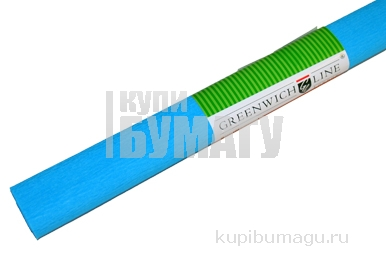 Бумага цветная креповая голубая, 50*250см с32г/м2, в рулоне, Greenwich Line