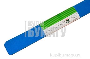 Бумага цветная креповая небесно голубая, 50*250см с32г/м2, в рулоне, Greenwich Line