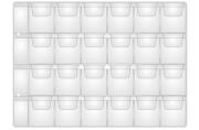 Лист OfficeSpace на 24 монеты 33*35, горизонтальный, 120мкм