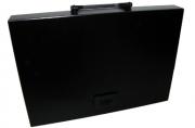 Портфель пласт. BRAUBERG Energy, А4 256*330 мм, без отделений, черный, 221202