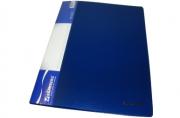 """Папка 10 вклад. BRAUBERG """"Стандарт"""" синяя, 0,5 мм"""