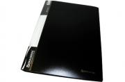 Папка 40 вклад. BRAUBERG Стандарт, черная, 0, 7мм, 221604