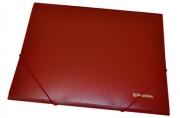 Папка на резинках BRAUBERG Стандарт, красная, до 300 листов, 0,5 мм,