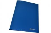 """Папка с бок. мет. приж. BRAUBERG """"Стандарт"""" синяя, до 100 листов, 0, 6мм"""