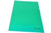 Папка-уголок жесткая BRAUBERG зеленая 0, 15мм, 221639