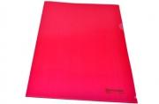 Папка-уголок жесткая BRAUBERG красная 0, 15мм, 221640