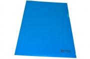 Папка-уголок жесткая BRAUBERG синяя 0, 15мм, 221642