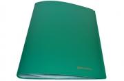 Папка 20 вклад. BRAUBERG Бюджет, зеленая, 0,5 мм,