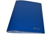 Папка 30 вклад. BRAUBERG Бюджет, синяя 0,5 мм,