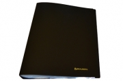 Папка 60 вклад. BRAUBERG Бюджет, черная, 0, 6мм, 222637