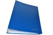 Папка 100 вклад. BRAUBERG Бюджет, синяя, 0, 8мм,
