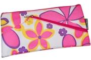 Пенал-косметичка BRAUBERG полиэстер, розовый, Цветочки, 22*11 см, 223908