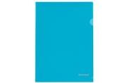 Папка-уголок BRAUBERG, синяя 0, 10мм,