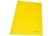 Папка-уголок жесткая BRAUBERG желтая 0, 15мм,