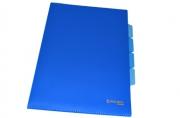 Папка-уголок 3 отделения, жесткая, BRAUBERG, синяя, 0, 15мм, 224885