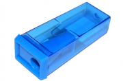 Точилка BEIFA (Бэйфа) с контейнером, прямоугольная, пластиковая, в дисплее, ассорти,
