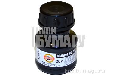 Тушь черная, 20 мл, KOH-I-NOOR 0141701002LP