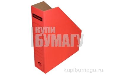 Лоток вертик гофро 75 мм А4  красный 700 листов