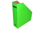 Лоток вертик гофро 75 мм А4  зеленый 700 листов