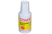 Корректирующая жидкость STAFF 15 мл, с кисточкой, быстросохнущая, 226055
