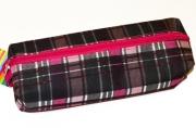 Пенал-косметичка BRAUBERG полиэстер, Шотландия, розовый, 20*6*4 см, 226726