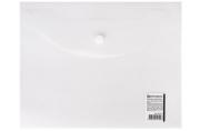 Папка-конверт с кнопкой МАЛОГО ФОРМАТА (240х190 мм), А5, матовая прозрачная, 0, 18 мм, BRAUBERG, 227314