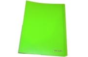 """Папка 40 вкладышей BRAUBERG """"Neon"""", 25мм, неоновая зеленая, 700мкм, 227452"""