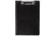 Папка-планшет МАЛЫЙ ФОРМАТ (180х255мм) А5, BRAUBERG, с прижимом и крышкой, картон/ПВХ, черная, 227980