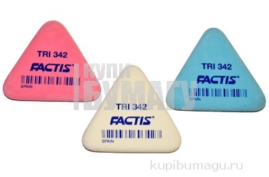 Ластик FACTIS TRI 342 (Испания), треугольная, 49х45х6мм, мягкая, синт. каучук, PNFTRI342