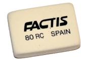 Ластик FACTIS 80 RC (Испания), прямоугольн, 28х20х7мм, мягкая, синт. каучук, CNF80RC