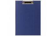 Доска-планшет STAFF EVERYDAY с прижимом А4 (225х316 мм), картон/бумвинил РОССИЯ, синяя, 229052