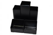Подставка-органайзер BRAUBERG-CONTRACT, 109*95*101, 5 мм, 5 отделений, черная