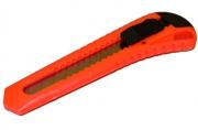 Нож универсальный BRAUBERG 18мм, фиксатор, цв. корп. ассорти, упак. с европодвесом,