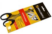 """Ножницы BRAUBERG """"Classic"""", 160 мм, классич. формы, чер, 2-х сторон. заточка, карт. упак с подвес,"""