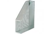 "Лоток вертикальный для бумаг BRAUBERG ""Germanium"", металл, д/ф. А4, ширина 72 мм, серебр,"