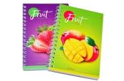 "Записная книжка А6 80л. на гребне ""Фрукты. Colorful fruits"""