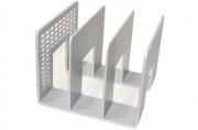Лоток-сортер вертикальный, 3 отделения, 207х212х165, серый