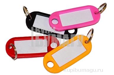 Брелоки для ключей STAFF,  длина 48 мм, инфо-окно 28*15 мм, АССОРТИ,